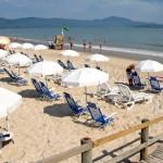 Praia do Jurere areia