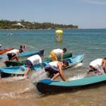 canoa em praia grande