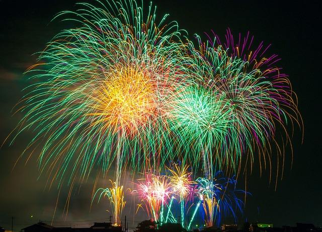 Queima de fogos de artifício
