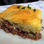 Torta de abóbora com carne seca