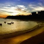 Pôr-do-sol na praia do Rio vermelho