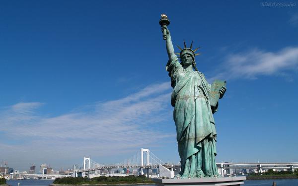 A Estátua da Liberdade está categorizada como um dos patrimônios mundiais da UNESCO
