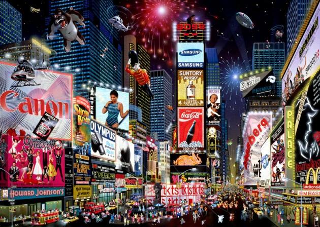 A Time Square é o maior centro de compras do planeta Terra