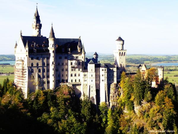 Castelo do conto A Bela Adormecida, inspirado.