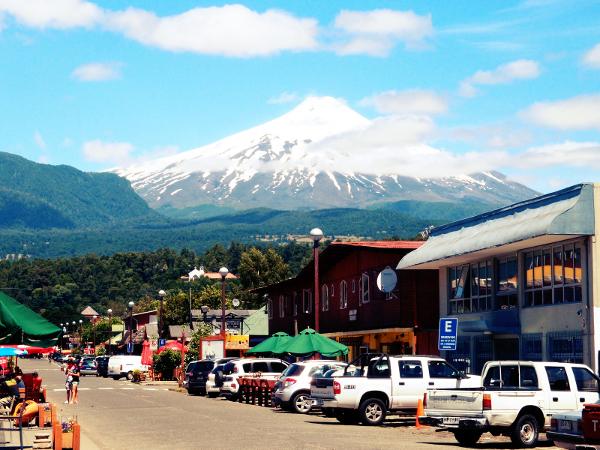 O gelo do Chile, este é o vulcão Villarica.